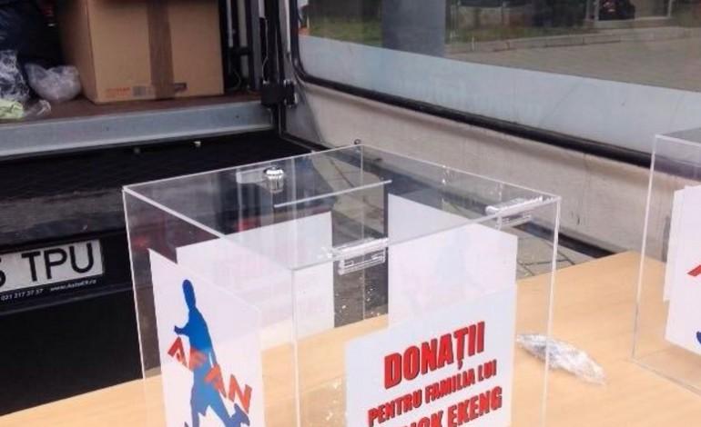 Urnele pentru sprijinul familiei lui Ekeng au fost instalate la stadion