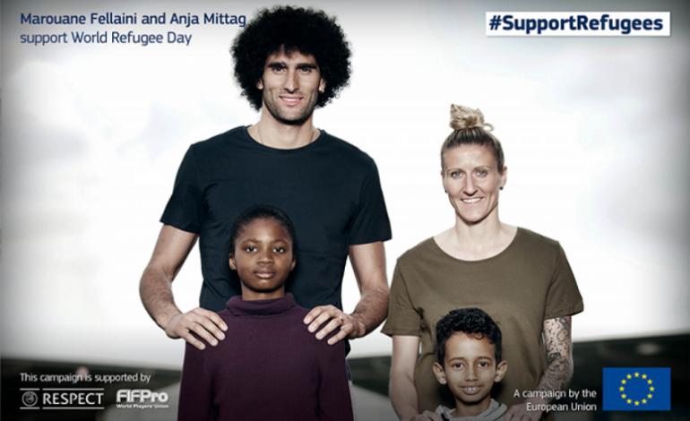 Fellaini şi Mittag sprijină campania pentru refugiaţi