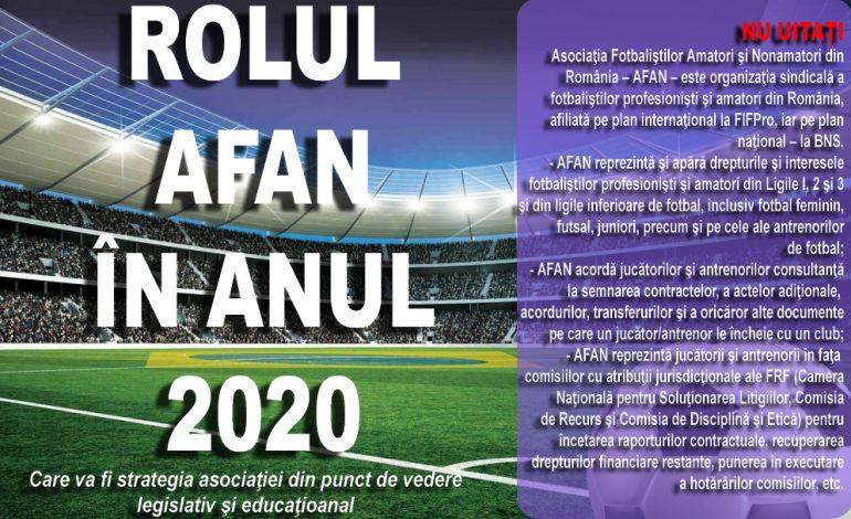 Rolul AFAN in anul 2020 !