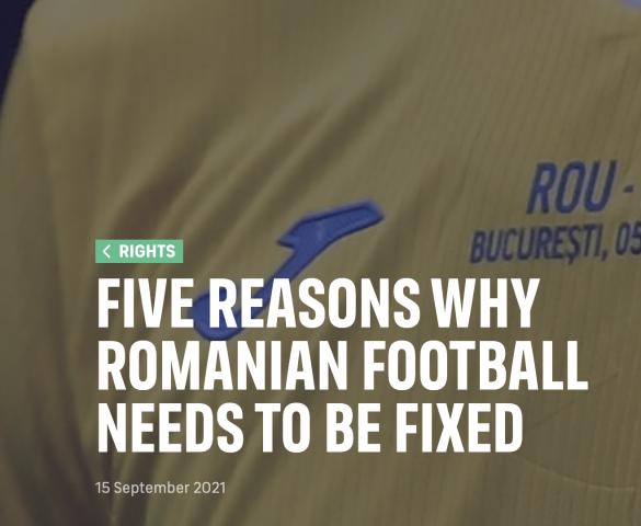 FIFPro: Cinci motive pentru care fotbalul românesc are nevoie de o reformă